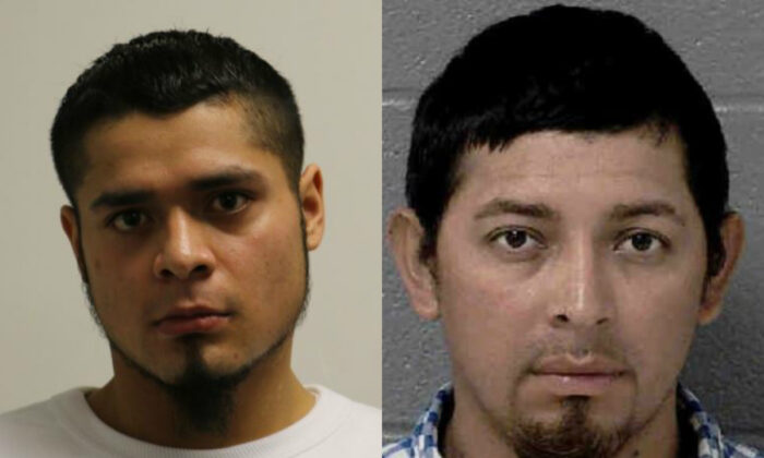 Kevin Torres, 25, left, and Jose Moises Blanco, 30. (Freeport Police Department; Mecklenburg County Sheriff's Office)