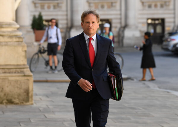 Britain's Secretary of State for Transport Grant Shapps