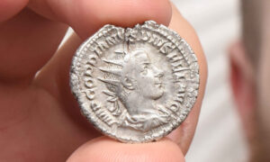 UK Man Stumbles on 1800-Year-Old Roman Silver Coin While Picking Litter in a Park