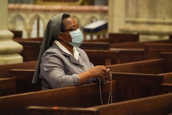 a nun preys