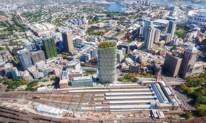 Fast tracking the rezoning plan for the first stage of Central Tech Precinct will pave the way for Atlassian's 40-storey timer tower HQ Office. (Supplied by Atlassian)