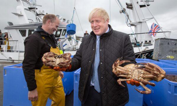 Boris Johnson Stromness Harbour Scotland