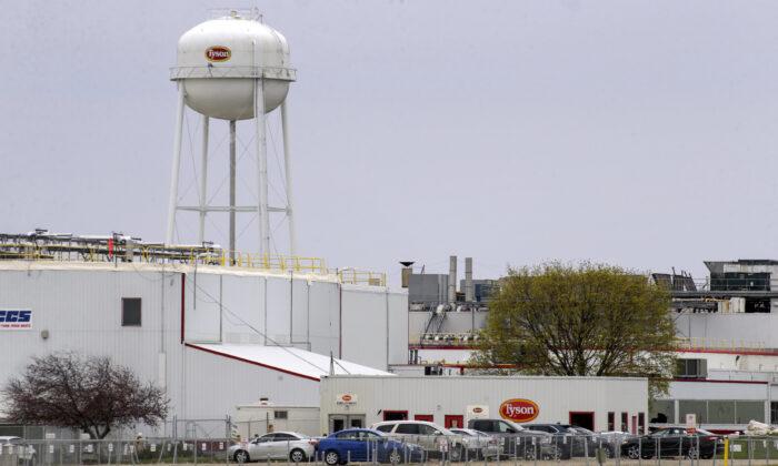 The Tyson Foods pork processing plant in Columbus Junction, Iowa on April 16, 2020. (Jim Slosiarek/The Gazette via AP, File)