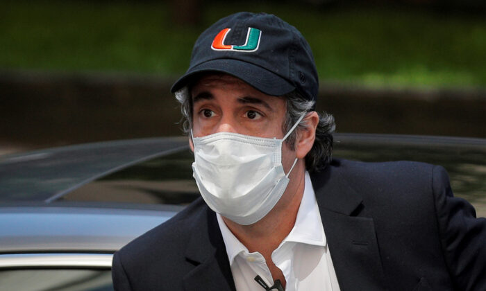 Michael Cohen arrives back at home after being released from prison during the outbreak of the COVID-19, in New York City, on May 21, 2020. (Brendan McDermid/Reuters)