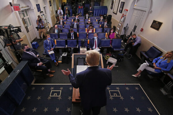President Trump Holds News Conference In White House Briefing Room