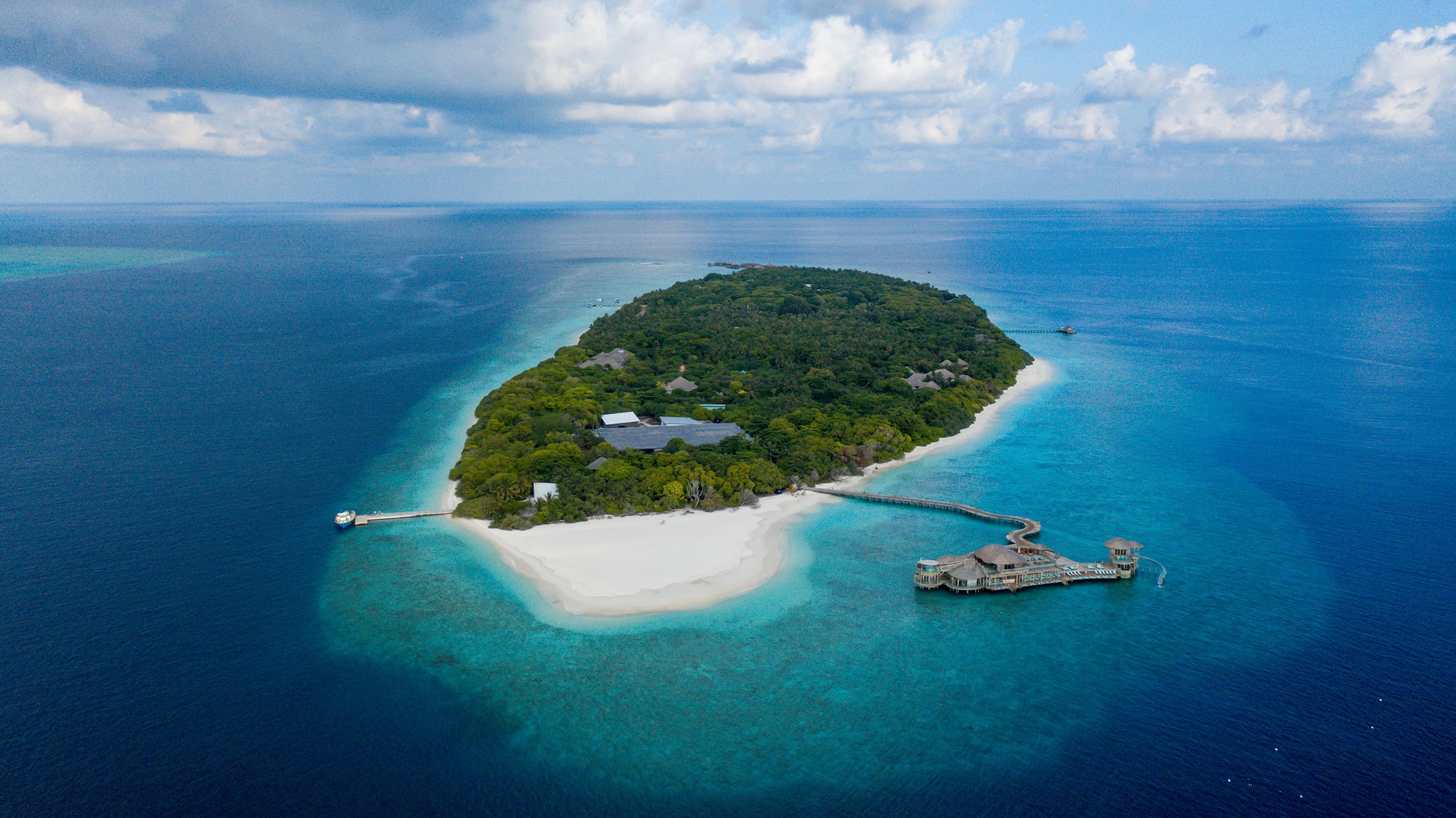 Soneva Fushi Island - Aerial