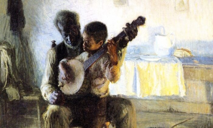 "A detail from ""The Banjo Lesson,"" 1893, by Henry Ossawa Tanner. Oil on Canvas, 49 inches by 35.5 inches. Hampton University Museum, Virginia. (Public Domain)"