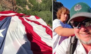 Family Retrieves Giant American Flag That Flew on Suspension Rope Across Utah Canyon