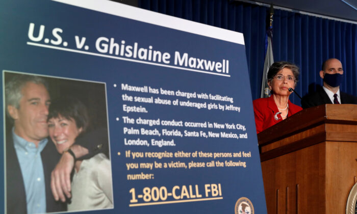Audrey Strauss, Acting United States Attorney for the Southern District of New York, speaks alongside William F. Sweeney Jr., Assistant Director-in-Charge of the New York Office, at a news conference announcing charges against Ghislaine Maxwell for her role in the sexual exploitation and abuse of children by Jeffrey Epstein in New York City, New York, on July 2, 2020. (Lucas Jackson/File Photo/Reuters)