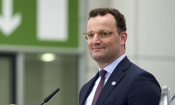 German Health Minister Jens Spahn attends a press conference in Berlin, Germany, on July 16, 2020. (Henning Schacht/Pool/Getty Images)