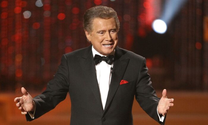 Host Regis Philbin on stage at the 37th Annual Daytime Emmy Awards in Las Vegas, Nev., on June 27, 2010. (Eric Jamison/AP photo)