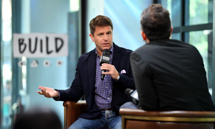 Brad Thor interviewed in New York in 2017. (Dia Dipasupil/Getty Images)