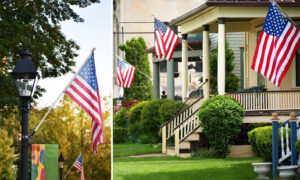 Father & Son Inspire Whole Town to Hang Hundreds of American Flags in NY Community