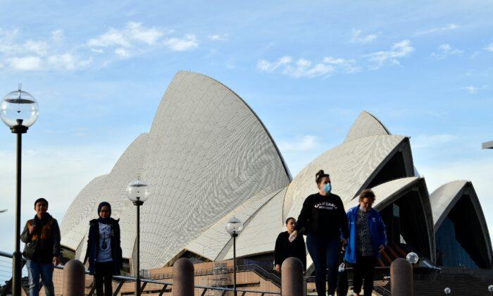 Sydney Opera House, NSW, Australiaon July 22, 2020. (Saeed Khan/AFP via Getty Images)