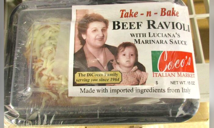 A Coco's Italian Market product, the beef ravioli, that is being recalled by the USDA. (USDA FSIS)