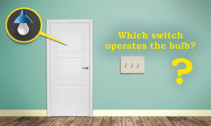 Test Your Logic: Can You Figure Out Which Switch Operates the Light Bulb in This Riddle?