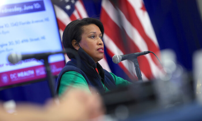 D.C. Mayor Muriel Bowser at a press conference in Washington, on June 10, 2020. (Win McNamee/Getty Images)