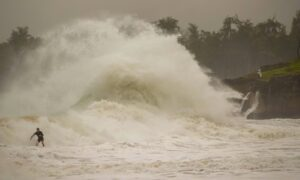 Hurricane Douglas Gains Strength; Skirts the State of Hawaii