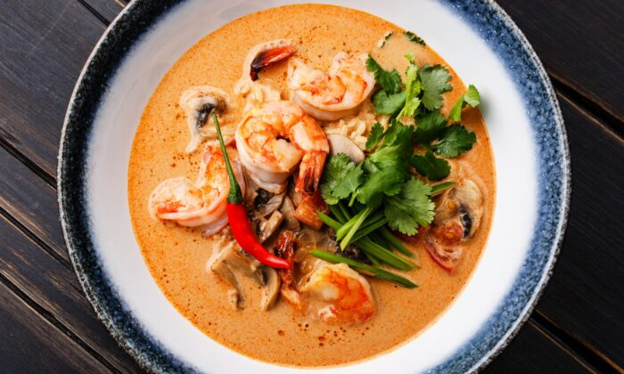 Tom yum, a classic hot and sour Thai soup. (Natalia Lisovskaya/Shutterstock)