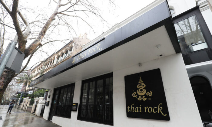 A general view of the exterior of Thai Rock restaurant in Potts Point on July 27, 2020 in Sydney, Australia.  (Matt King/Getty Images)