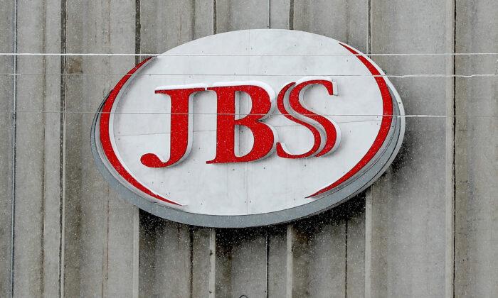 JBS meat company logo (Matthew Stockman/Getty Images)