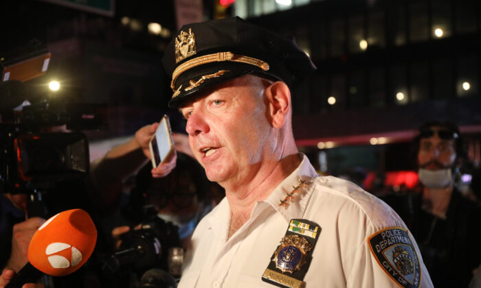 Chief of Department Terence Monahan, the New York Police Department's highest-ranking uniformed officer, in New York City on June 3, 2020. (Spencer Platt/Getty Images)