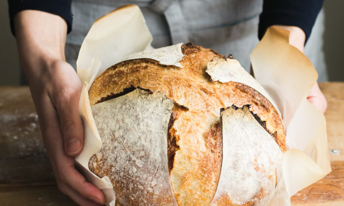 A freshly baked loaf of sourdough, from a starter nurtured in your own kitchen, is nourishment in more ways than one. (Emilie Raffa)