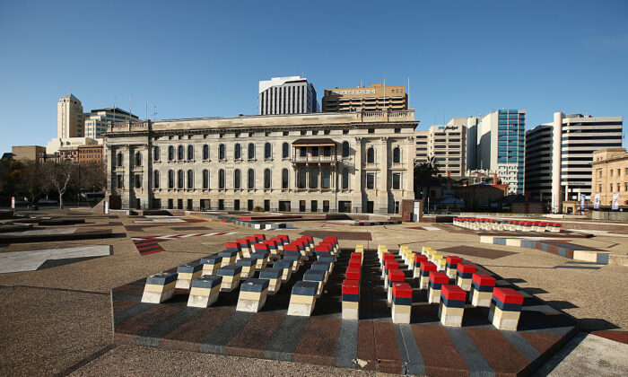 Adelaide Festival Centre's Southern Plaza  behind Parliament House on August 23, 2015 in Adelaide, Australia.  (Morne de Klerk/Getty Images)
