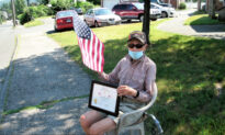 WWII Vet Who Greets Neighbors With American Flag Every Day Honored With Patriotic Car Parade
