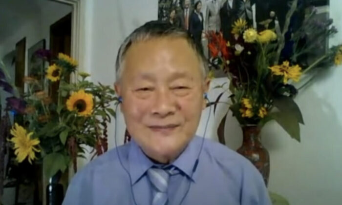 Activist Wei Jingsheng in a Skype interview with the Hong Kong Epoch Times. (Screenshot/The Epoch Times)