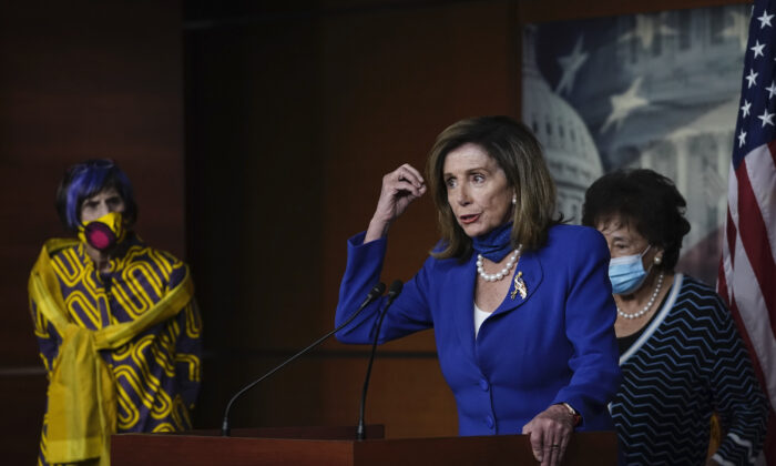Speaker of the House Nancy Pelosi (D-CA) speaks during a news conference at the Capitol on July 29, 2020 in Washington. (Drew Angerer/Getty Images)