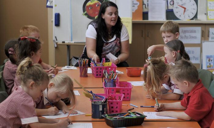 Dixon Creek Primary School, 50km north-east of Melbourne, on Feb. 26, 2009. (Paul Crock/AFP via Getty Images)