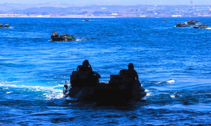 At least 1 Marine has died and 8 others are missing after an accident involving an amphibious vehicle off the coast of Southern California on July 30, 2020. (Staff Sgt. Kassie McDole/U.S. Marine Corps)