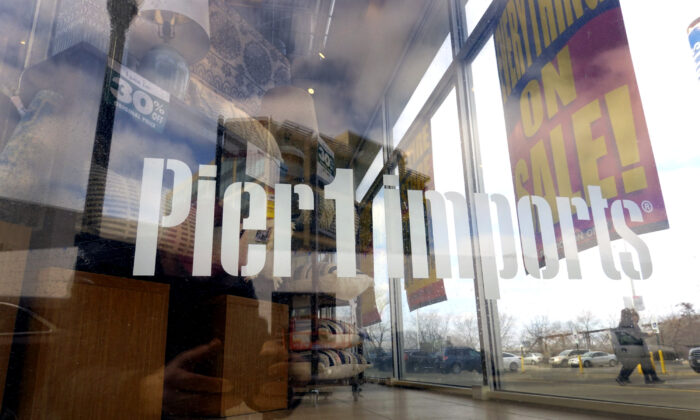 Merchandise is offered for sale at a Pier 1 imports store that is slated to close in Chicago, Ill., on Feb. 18, 2020. (Scott Olson/Getty Images)