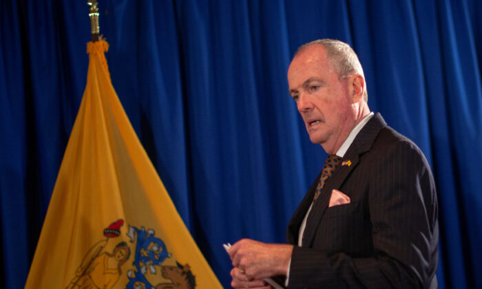 New Jersey Gov. Phil Murphy arrives to speak during a news conference in Trenton, N.J., on Sept. 12, 2019. (Eduardo Munoz/Reuters)