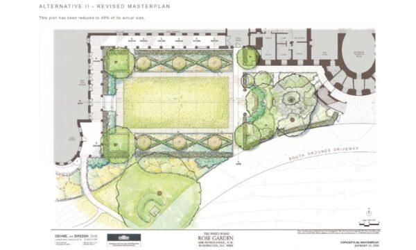 Melania Trump Rose Garden Redesign