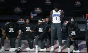 First NBA Player to Stand for National Anthem Goes Down With ACL Injury