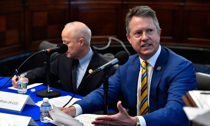 Congressman Roger Marshall (R-Kan.) at the Cannon Building on Capitol Hill in Washington on May 16, 2018.  (Larry French/Getty Images for SiriusXM)