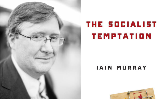 "Iain Murray and his new book, ""The Socialist Temptation."" (Courtesy of Iain Murray and Regnery)"