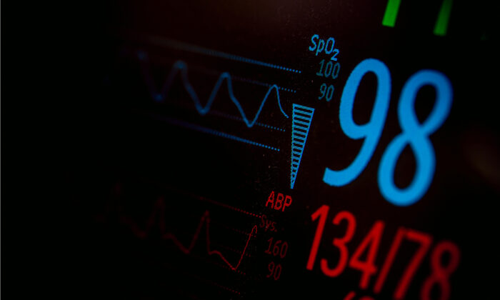 Vital signs displayed on a monitor. (Shutterstock)
