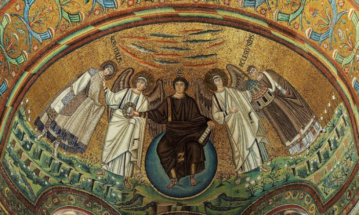 Apse mosaic in the San Vitale Basilica, in Ravenna, Italy. The UNESCO World heritage site was built in A.D. 547. (CC BY-SA 4.0)