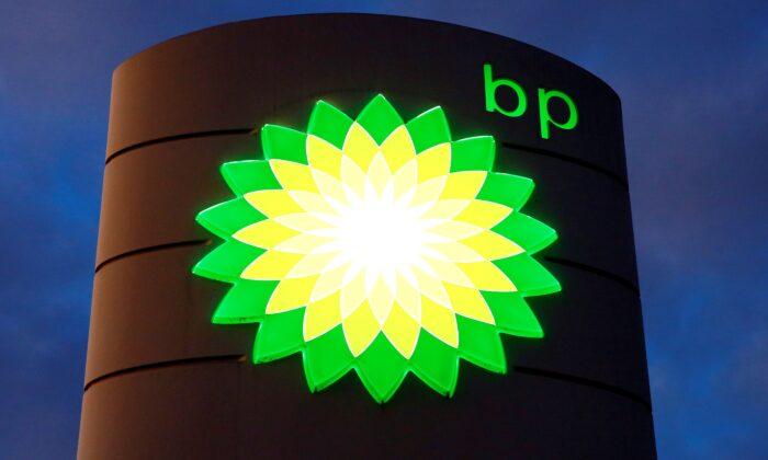 BP's logo at a petrol station in Kloten, Switzerland, on Oct. 3, 2017. (Arnd Wiegmann/Reuters)