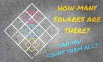 Can You Find All the Squares in This Puzzle? Only EXPERTS Can Count ALL of Them!