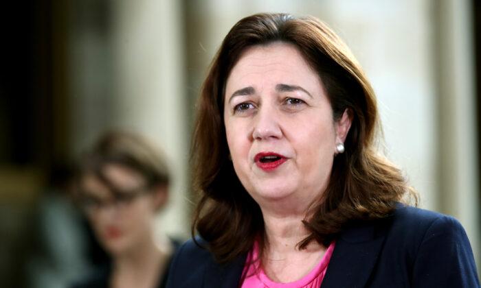 Queensland Premier Annastacia Palaszczuk speaks during a press conference in Brisbane, Australia on June 16, 2020. (Jono Searle/Getty Images)
