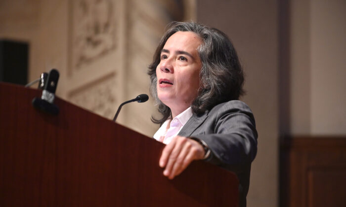New York City Health Commissioner Dr. Oxiris Barbot speaks during an event on Dec. 2, 2019. (Gary Gershoff/Getty Images for Housing Works)