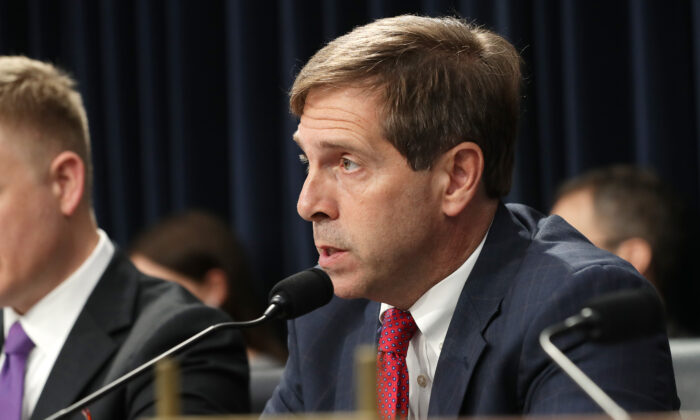 Rep. Chuck Fleischmann (R-Tenn.) questions Immigration and Customs Enforcement Acting Director Matt Albence during a hearing in the Rayburn House Office Building on Capitol Hill in Washington, on July 25, 2019. (Chip Somodevilla/Getty Images)