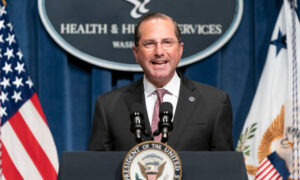 Health Secretary Azar to Visit Taiwan, the Highest-Level US Official to Visit in Four Decades