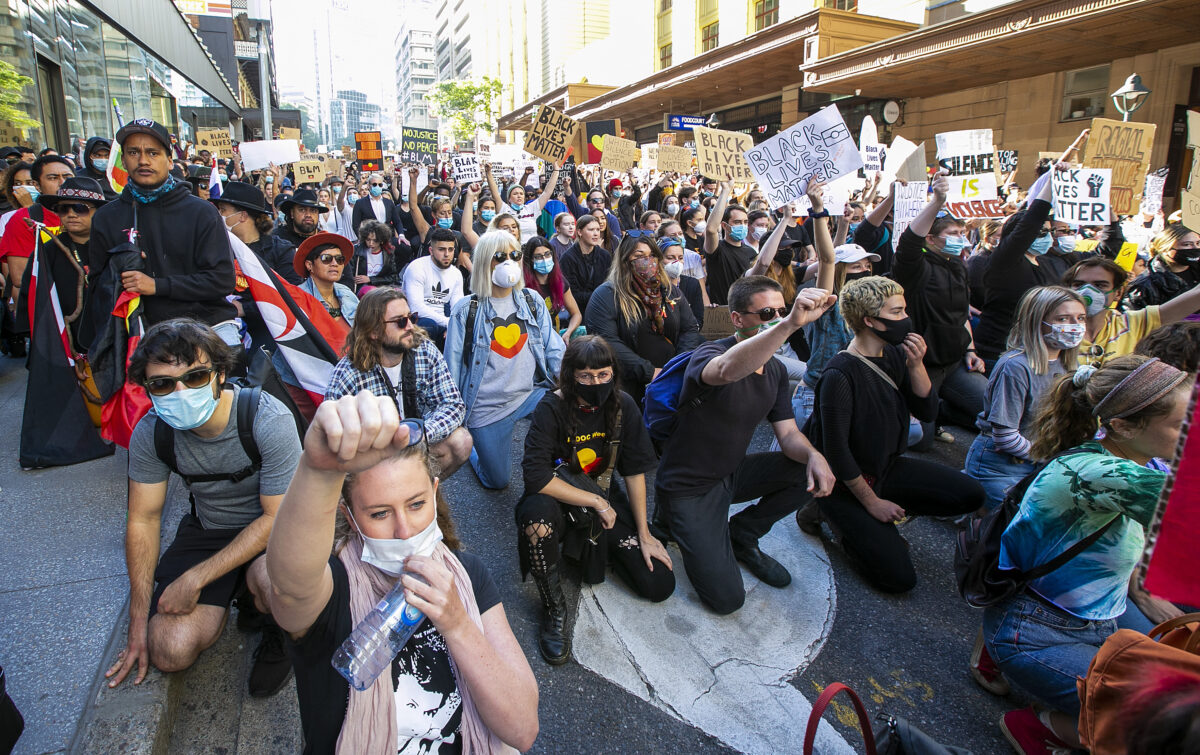 Australians Rally In Solidarity With Black Lives Matter Movement