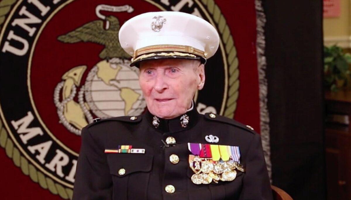 Oldest living Marine corps veteran rings in 105th...