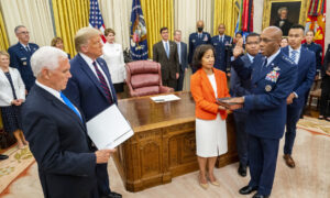Trump Hosts Swearing-In of General Charles Brown Jr., First Black Service Chief
